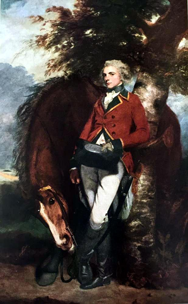 Masterpieces of British Painting by Joshua Reynolds: Colonel George K.H. Coussmaker c.1782 Fine Art Print from Museum Artist - Click Image to Close