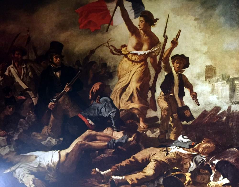 Masterpieces Delacroix: Liberty Leading the People c.1830 Fine Art Print from Museum Artist - Click Image to Close